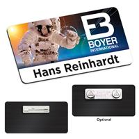 """Picture of 3"""" x 1-1/2"""" Plastic Name Tag"""