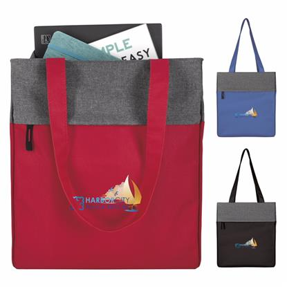 Picture of Two-Tone Colorblock Computer Tote