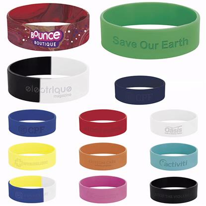 "Picture of 3/4"" inch Silicone Wrist Band"