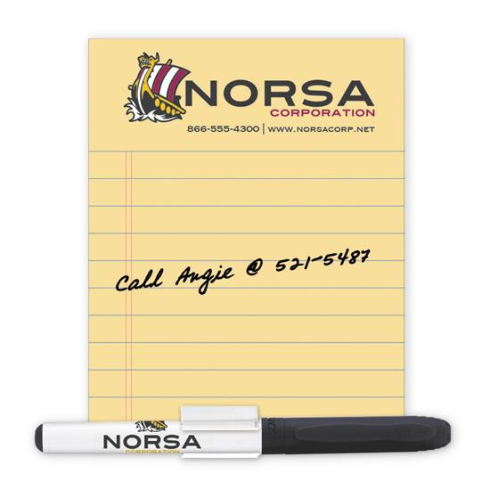 Picture of BIC® 20 Mil Dry Erase Magnet with Marker and Clip
