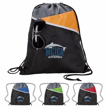 Picture of Tri-Tone Drawstring Backpack