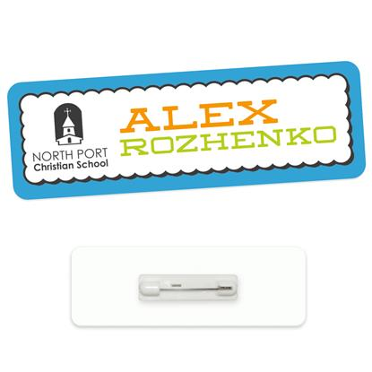 "Picture of 3"" x 1"" Economy Name Tag"