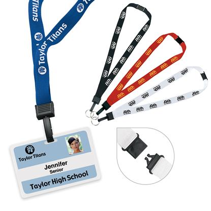 "Picture of 3/4"" Breakaway Lanyard with Key Ring"