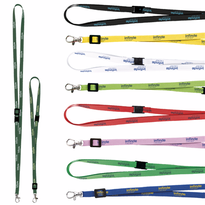 "Picture of 3/8"" Adjustable Polyester Lanyard"
