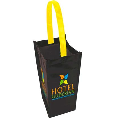 Picture of Laminated Non-Woven 1 Bottle Tote Bag