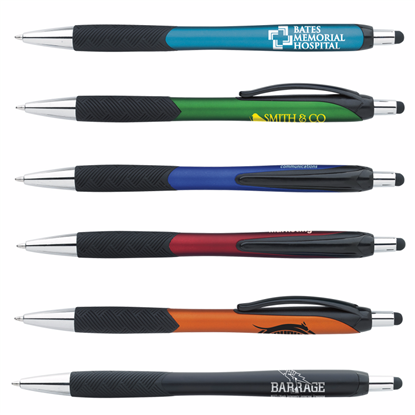 Picture of Metallic Pattern Grip Stylus Pen