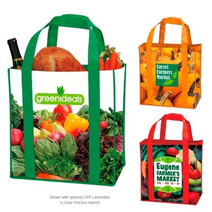 Picture of Laminated Non-Woven Grocery Tote