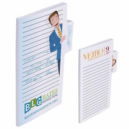 "Picture of BIC® Memo Tab™ 6"" x 4"" Adhesive Notepad, 25 Sheet Pad"