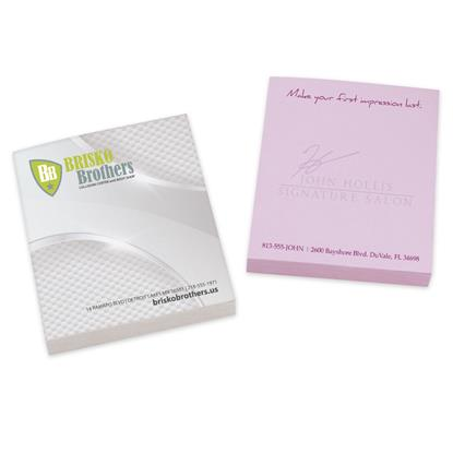 "Picture of BIC® Ecolutions® 2-3/4"" x 3"" Adhesive Notepad, 25 Sheet Pad"