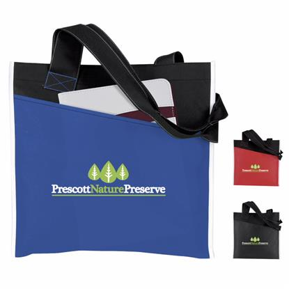 Picture of Angled Pocket Non-Woven Tote