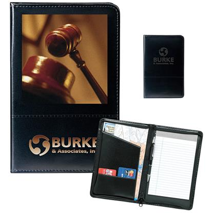 Picture of Script Zippered Jr. Padfolio