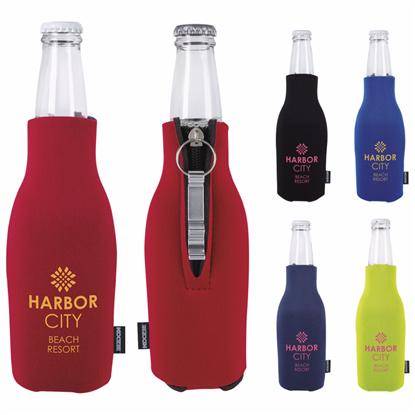 Picture of Koozie® Zip-Up Bottle Kooler with Opener
