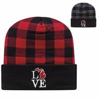 Picture of Cap America Plaid Knit Cap with Cuff