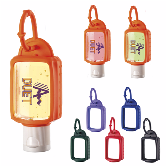Picture of 1.0 oz. Hand Sanitizer with Silicone Leash - Scented