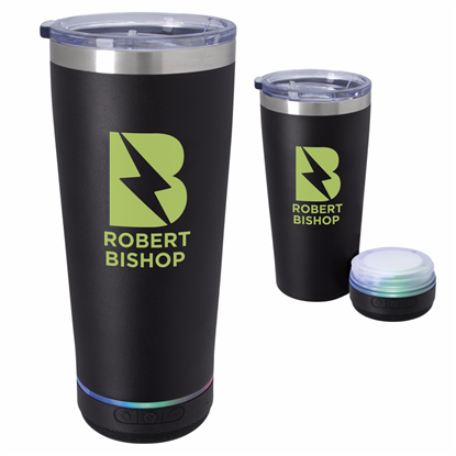 Picture of Tumbler with Bluetooth® Speaker - 20 oz.