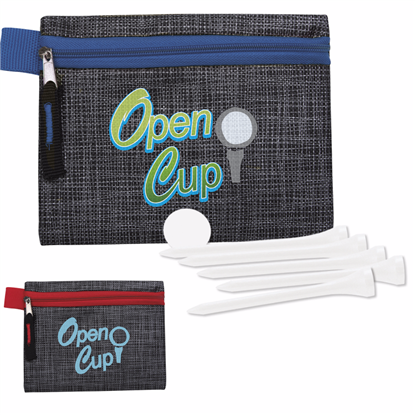 """Picture of Golf Tee Kit - 2-3/4"""" with Printed Non-Woven Pouch"""